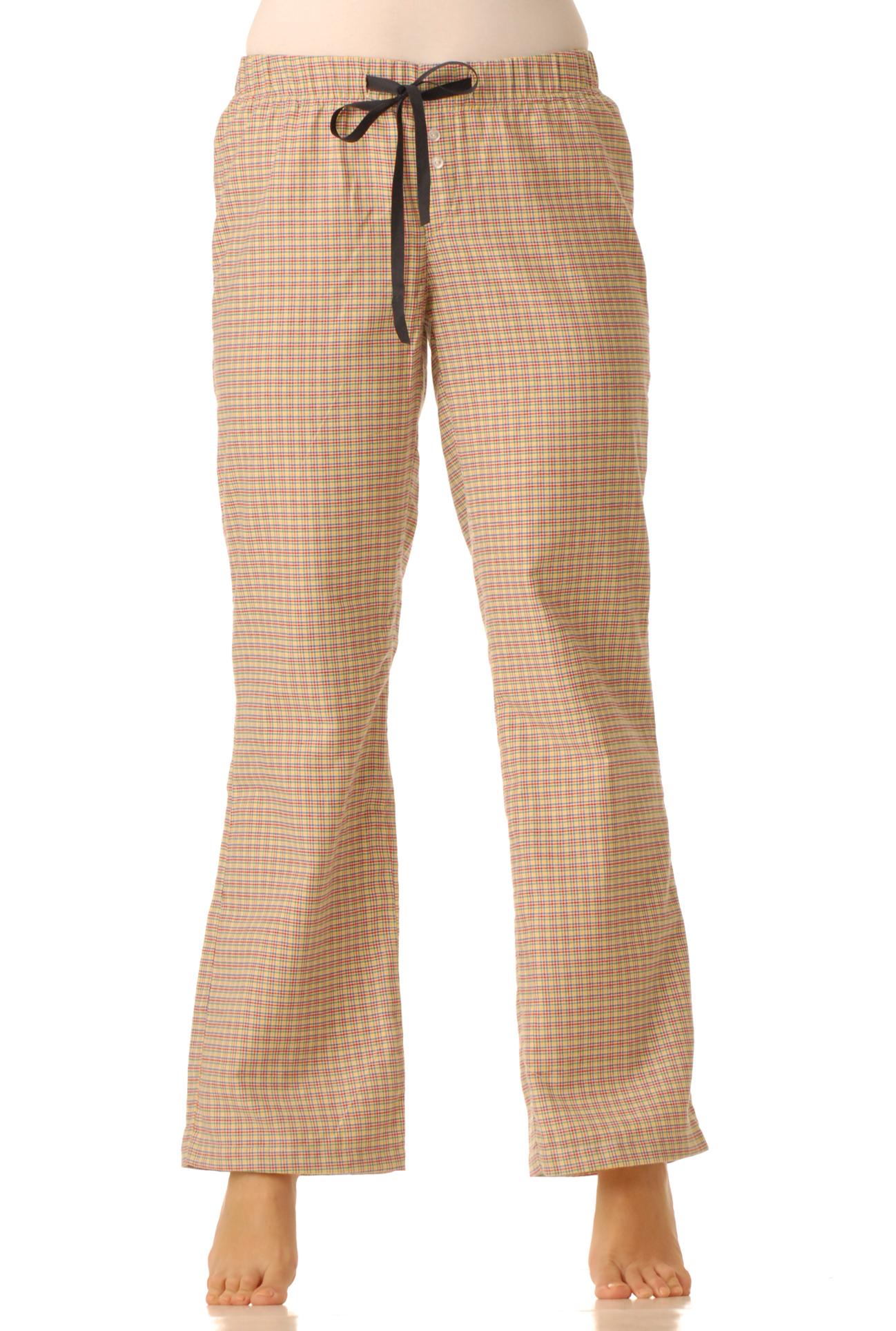 Flanelové pyžamové kalhoty - Barevná kostka